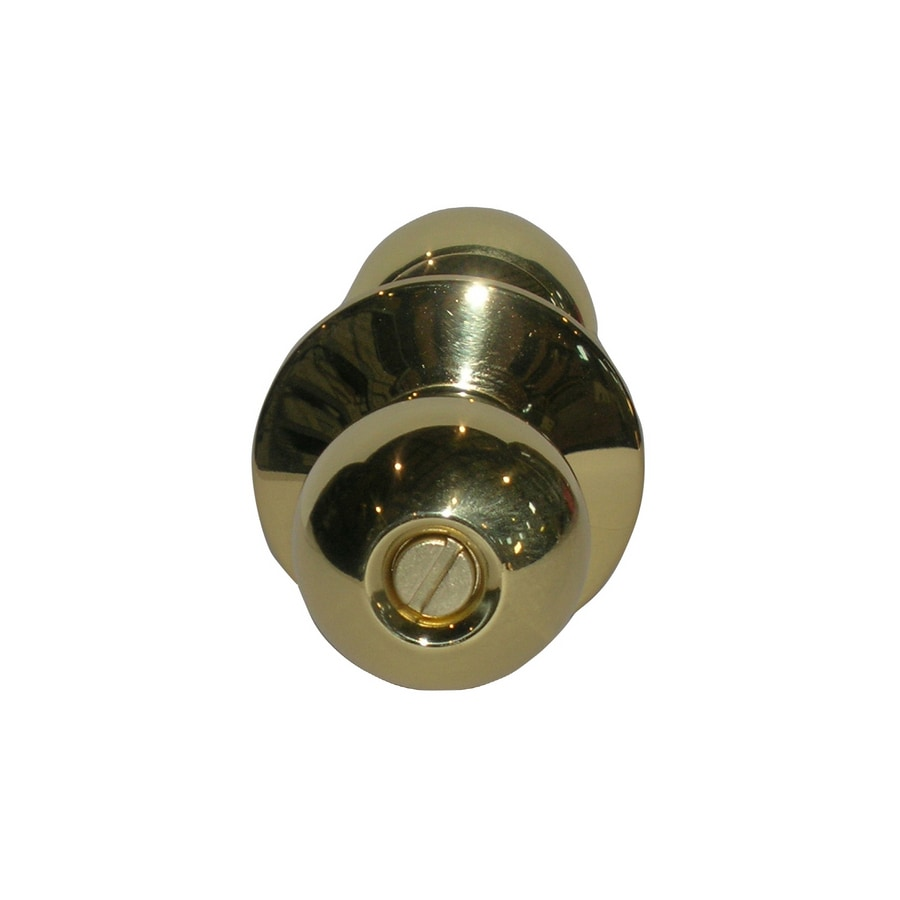 TELL MANUFACTURING, INC. Heavy Duty 3 Round Push Button-Lock Privacy Door Knob