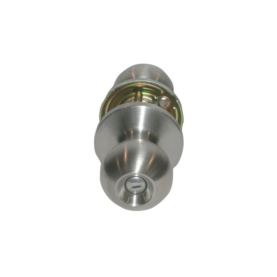 TELL MANUFACTURING, INC. Residential 32D Round Push Button-Lock Privacy Door Knob