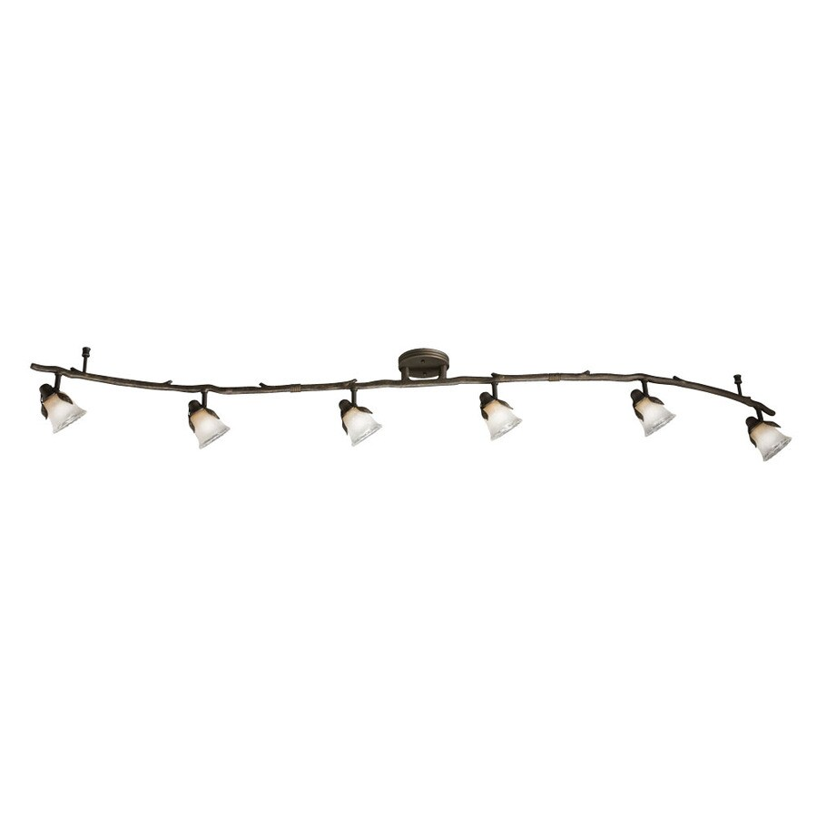 Portfolio Branches 6-Light 70.75-in Olde Bronze Dimmable Fixed Track Light Kit