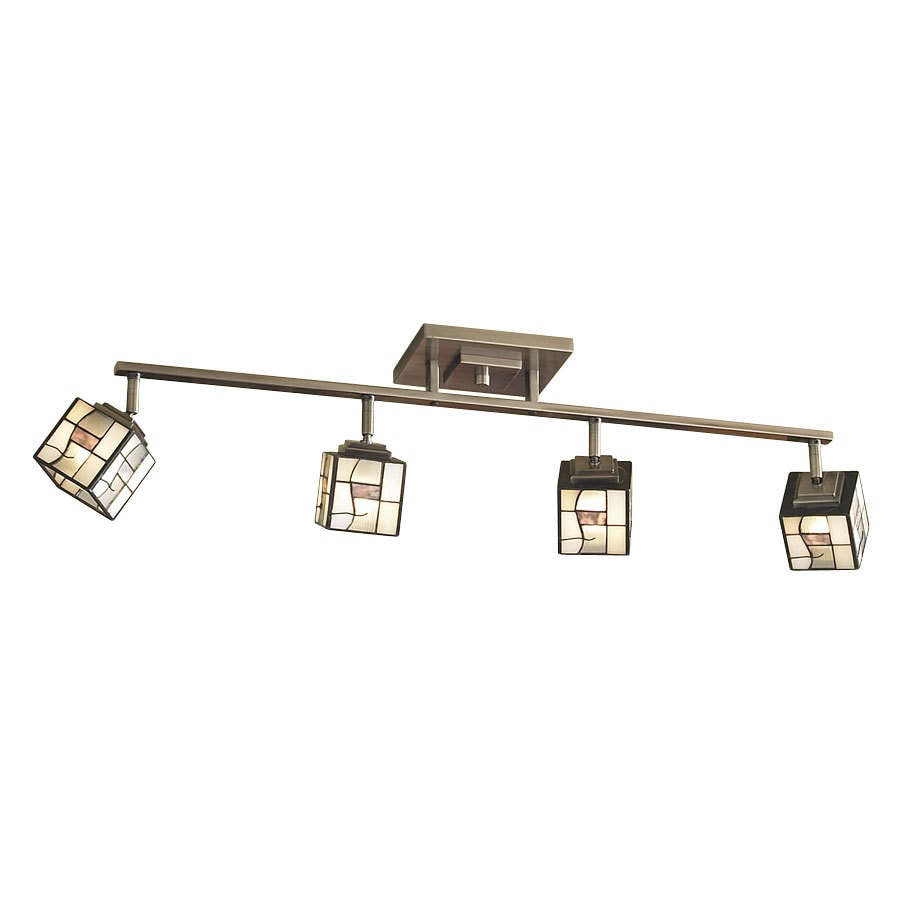 allen + roth 4-Light Classic Pewter Dimmable Fixed Track Lighting Kit