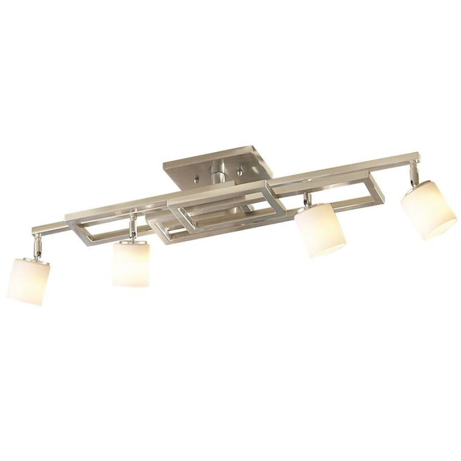allen + roth 4-Light Brushed Nickel Fixed Track Light Kit
