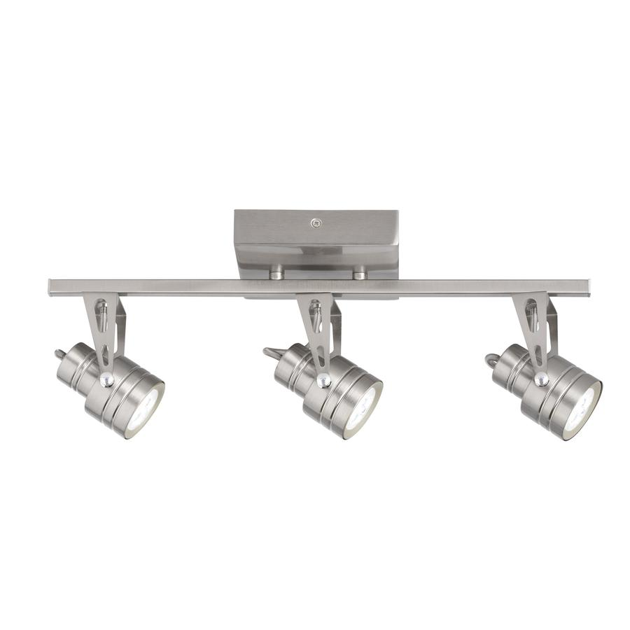 Kichler Lighting Cadigan 3-Light 17.72-in Satin Nickel Dimmable LED Fixed Track Light Kit