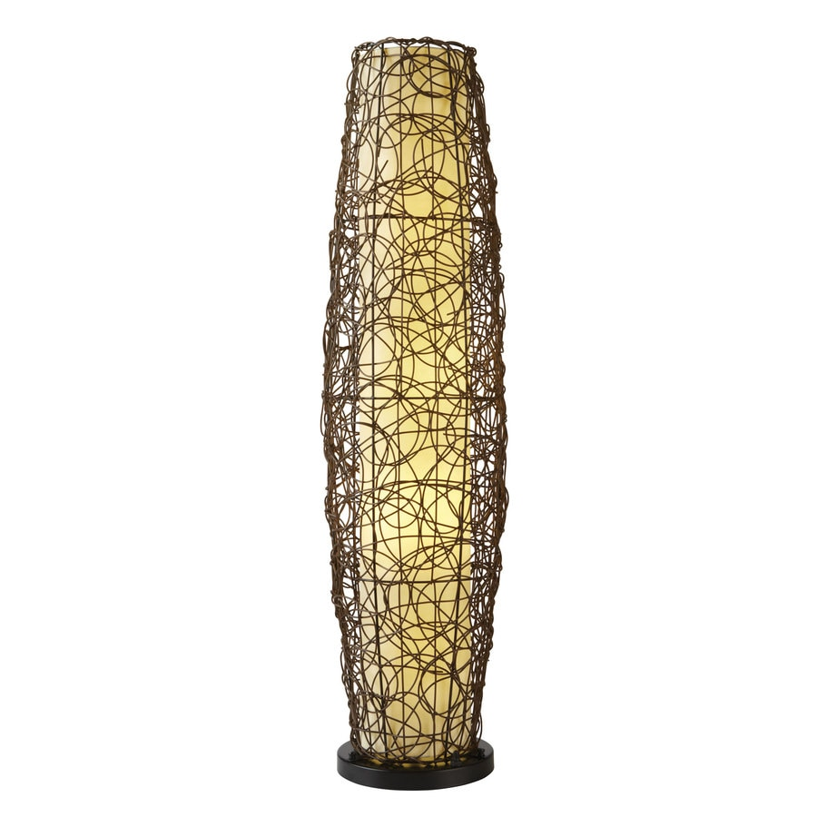 allen + roth 52-in Plug-In Fluorescent Outdoor Floor Lamp