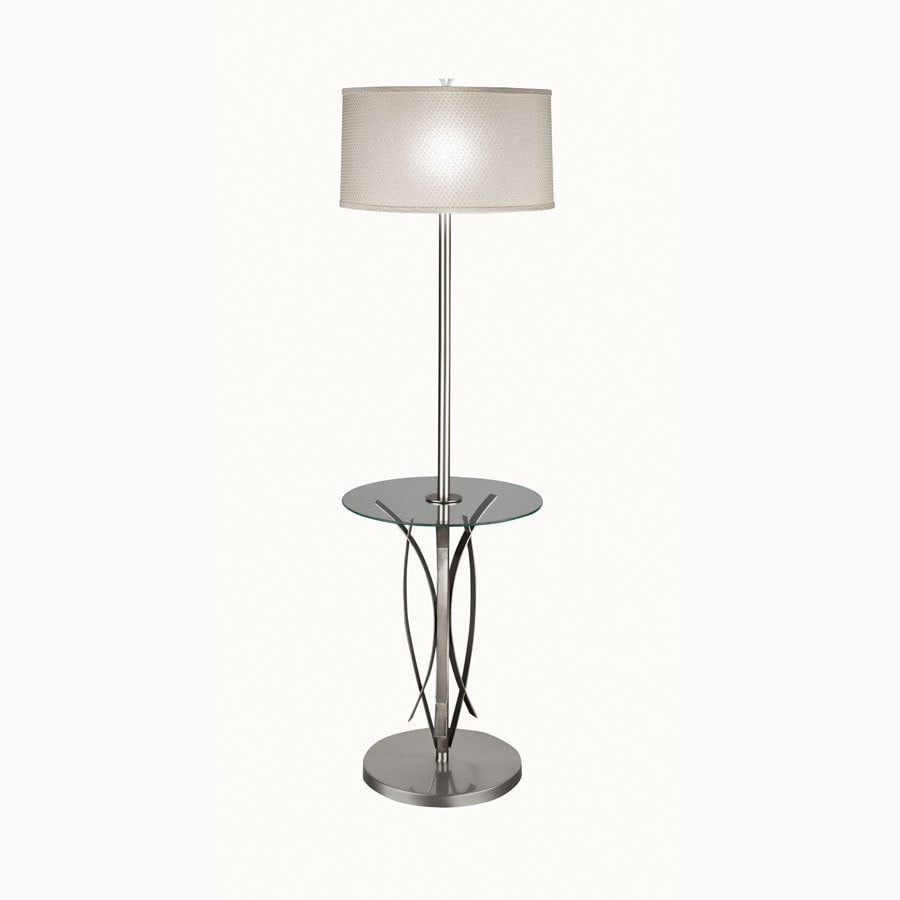 Westwood Collection 56-in 3-Way Brushed Nickel Indoor Floor Lamp with Fabric Shade