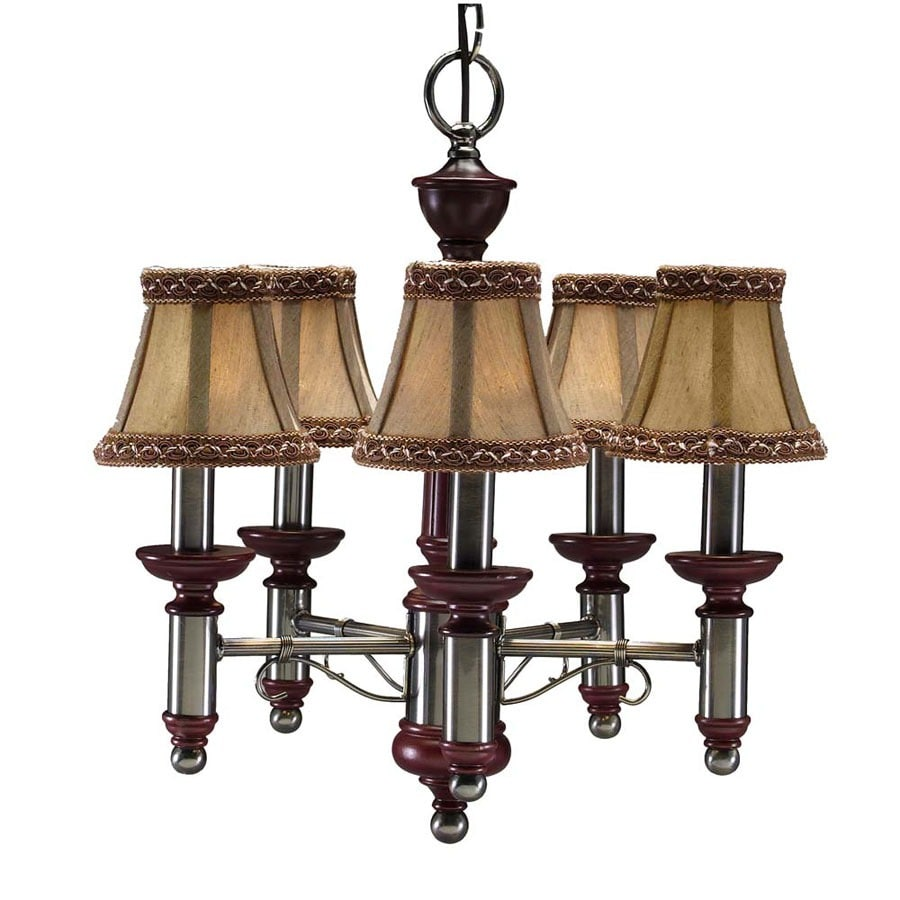 Portfolio 16-in 5-Light Antique Nickel Standard Chandelier