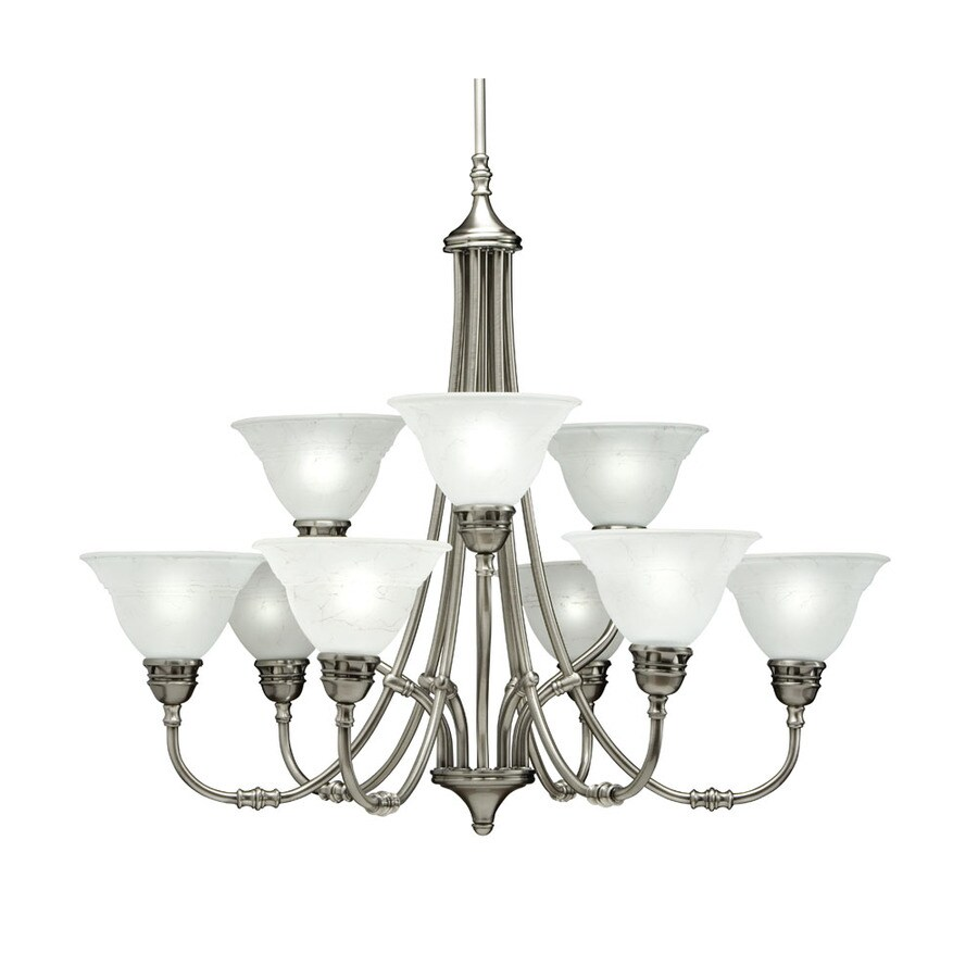 Portfolio Newport 32-in 9-Light Antique Pewter Standard Chandelier