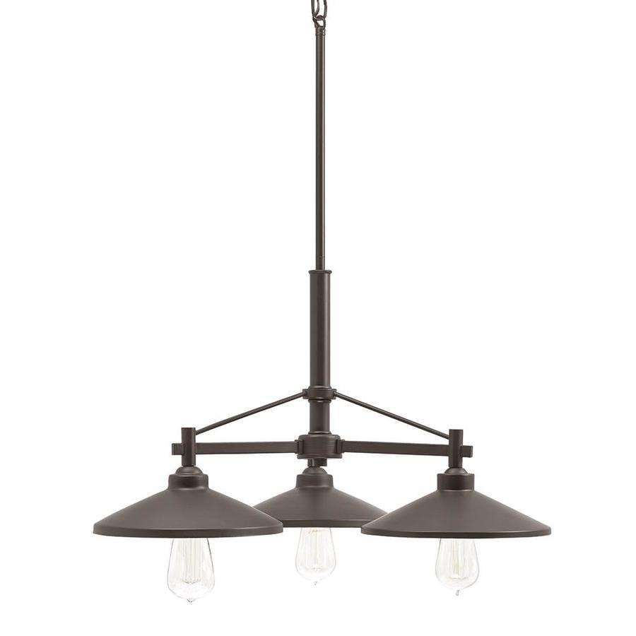 Kichler Lighting Covington 25.51-in 3-Light Olde Bronze Barn Shaded Chandelier