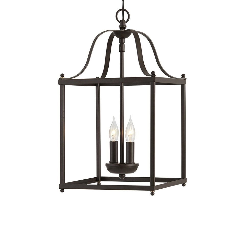 Shop allen + roth Collinwick 10-in Specialty Bronze Country Cottage Single Cage Pendant at Lowes.com
