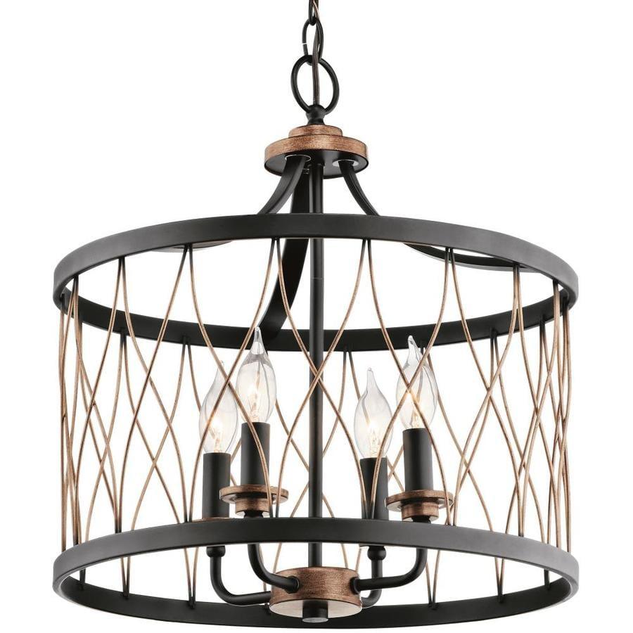 Shop Kichler Lighting Brookglen 15.98-in Black With Gold