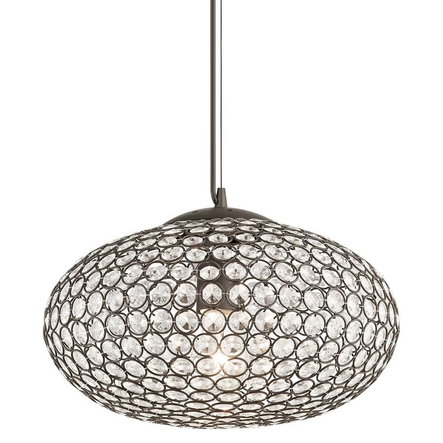 Kichler Lighting Krystal Ice 13.78-in Olde Bronze Crystal Single Crystal Oval Pendant