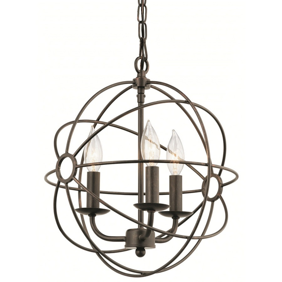 Kichler Lighting Vivian 12.89-in Coffee with Copper Accents Crystal Single Crystal Cage Pendant