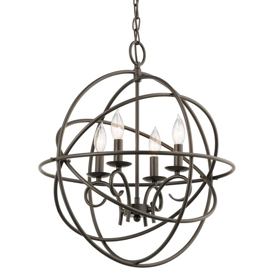 Kichler Lighting Vivian 19.02-in 4-Light Olde Bronze Globe Chandelier