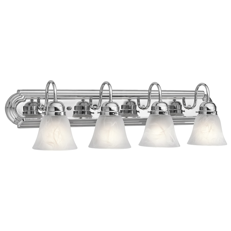 Portfolio 4-Light Chrome Bathroom Vanity Light