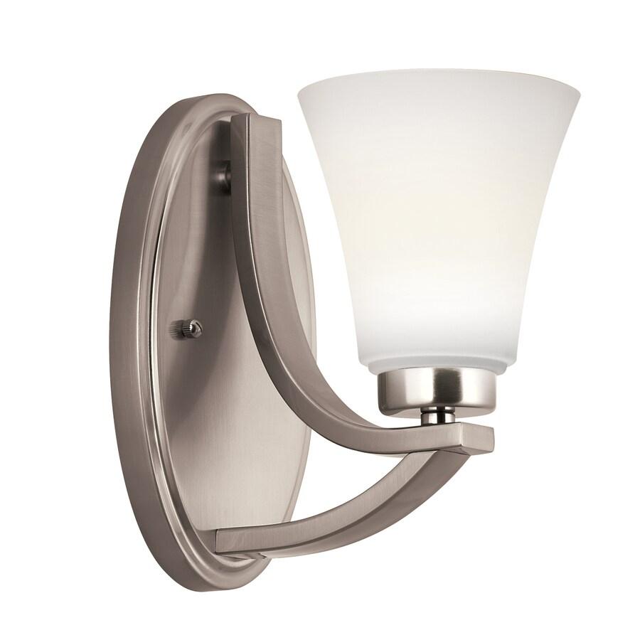 Portfolio Lyndsay 1-Light Satin Nickel Bell Vanity Light