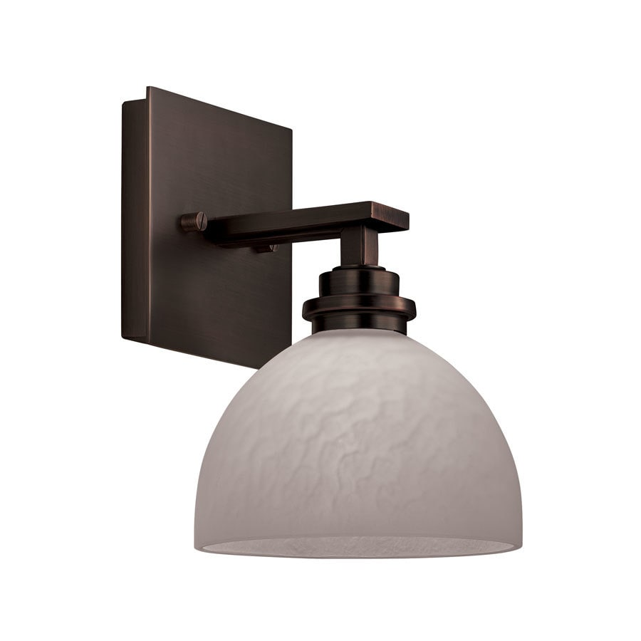 Portfolio 7-in W 1-Light Light Oil Rubbed Bronze Arm Hardwired Wall Sconce