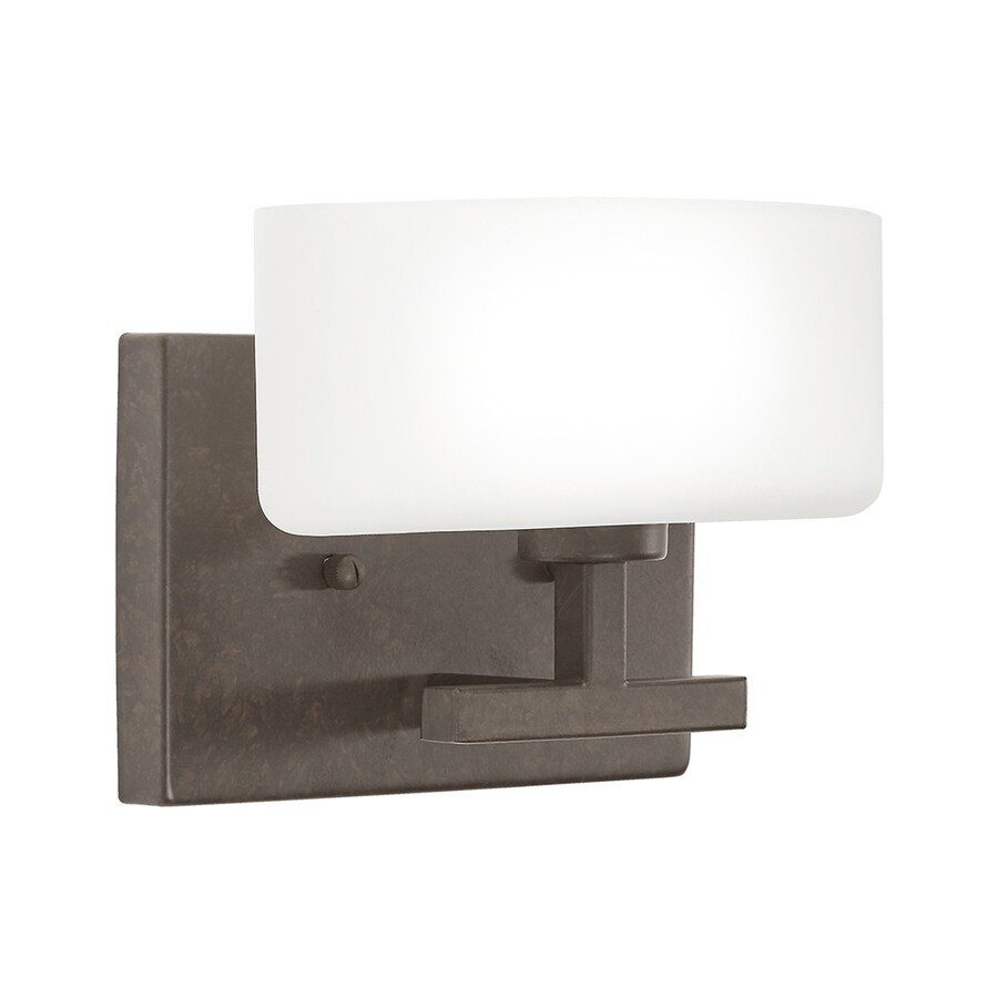 Kichler Vanity Lights Lowes : Shop Kichler Lighting Aiden 1-Light Tannery Bronze Oval Vanity Light at Lowes.com