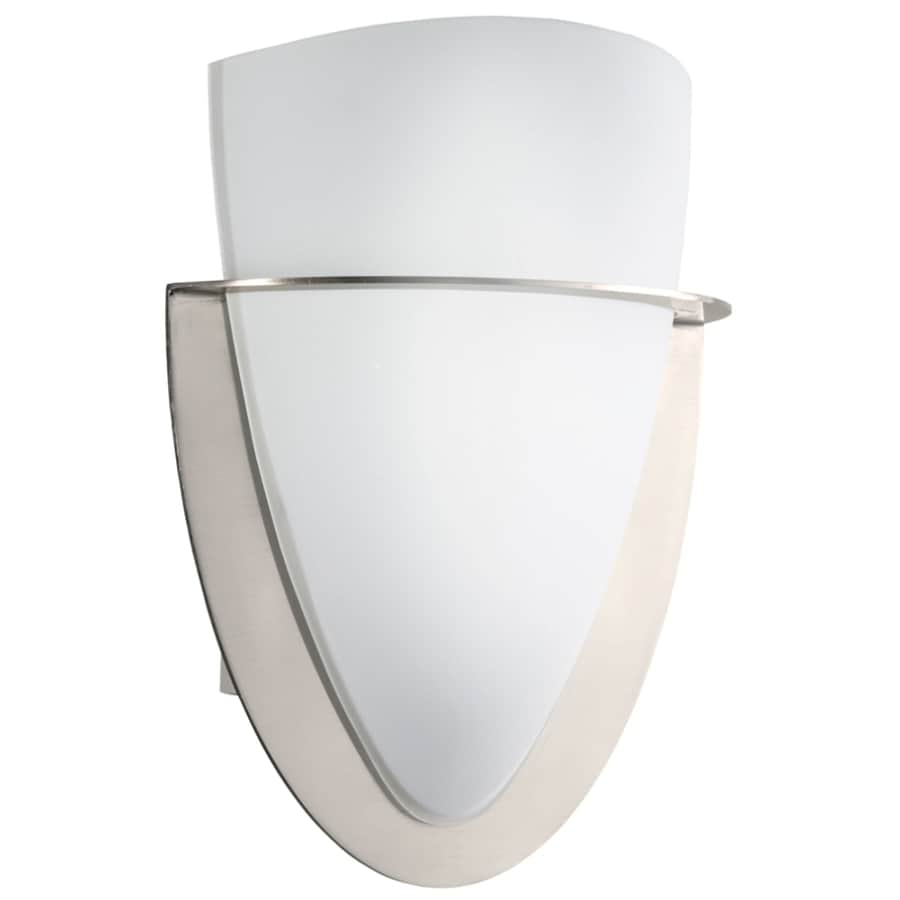 Portfolio Wall Sconce Brushed Nickel : Shop Portfolio 7-3/4-in W 1-Light Brushed Nickel Pocket Wall Sconce at Lowes.com