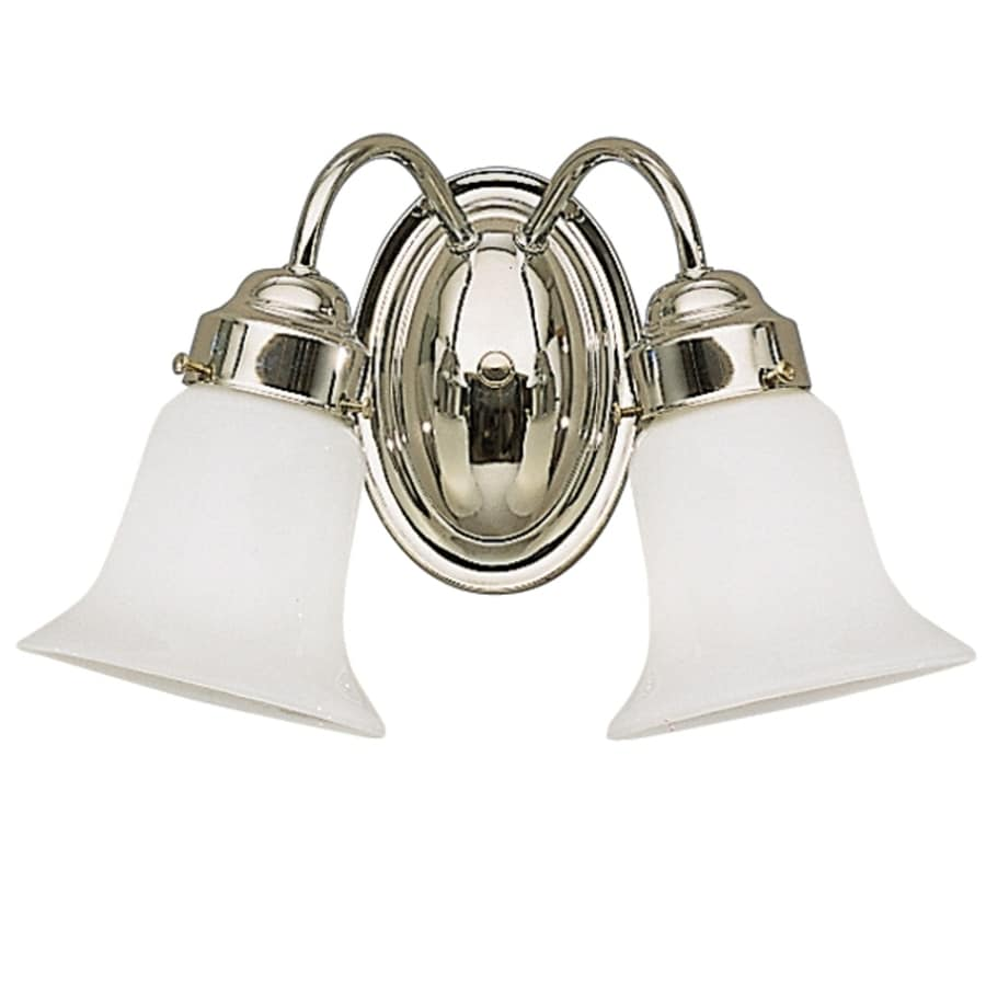 Portfolio 2-Light Chrome Bathroom Vanity Light