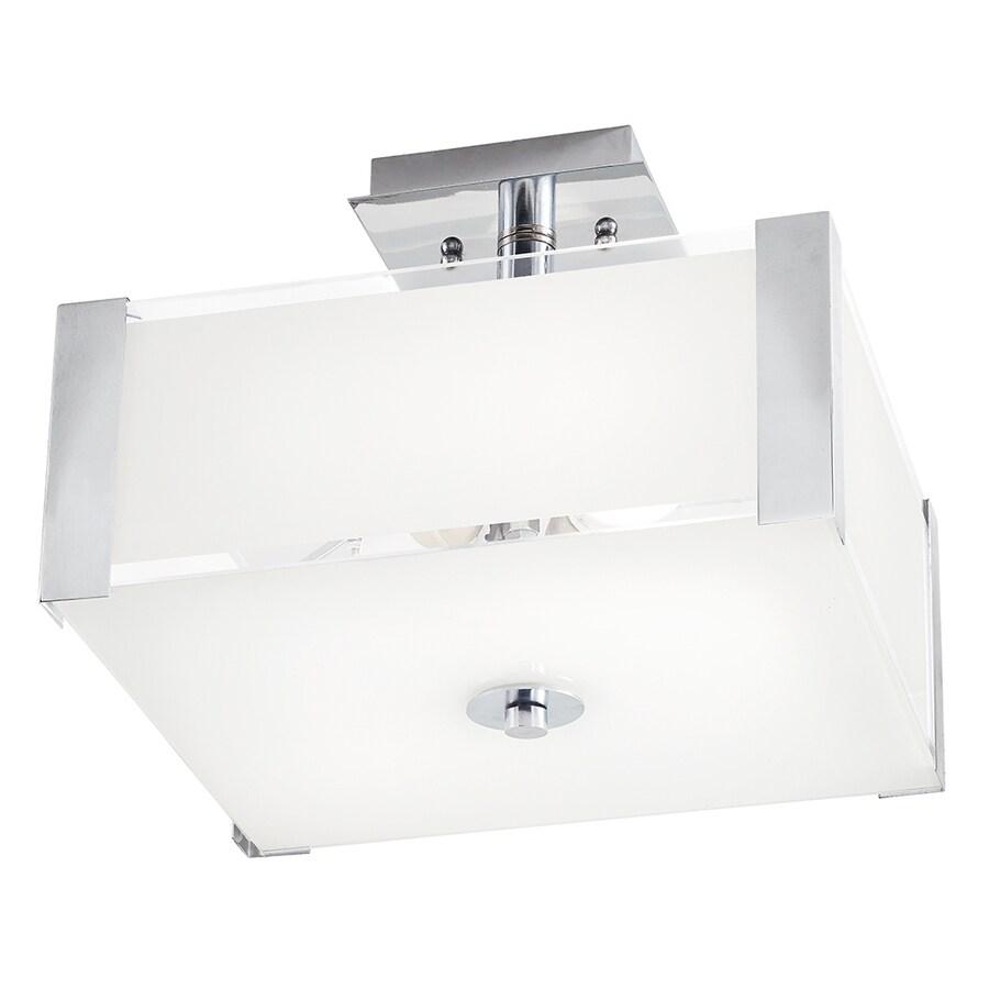 Kichler Lighting 12.52-in W Chrome Frosted Glass Semi-Flush Mount Light