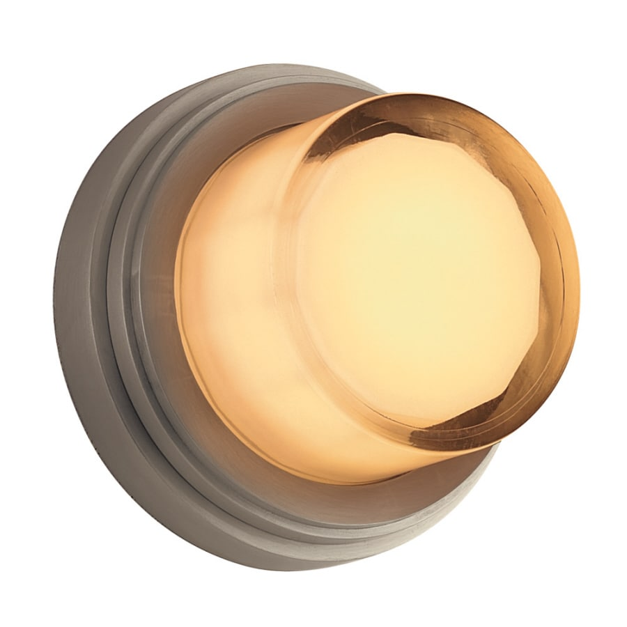Portfolio 7-in H Brushed Aluminum Outdoor Wall Light
