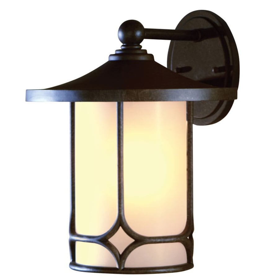 allen + roth 14.75-in H Aged Bronze Outdoor Wall Light