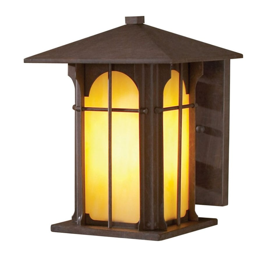 allen + roth Lindbergh 9-in H Olde Brick Outdoor Wall Light