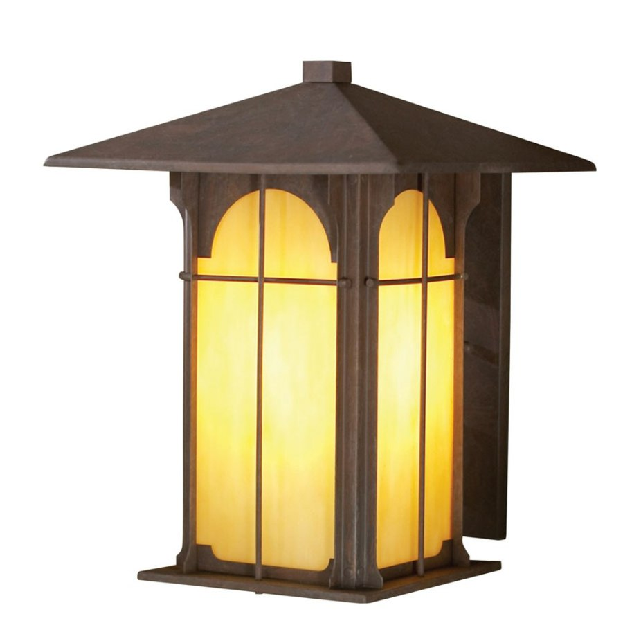 allen + roth Lindbergh 11.5-in H Olde Brick Outdoor Wall Light