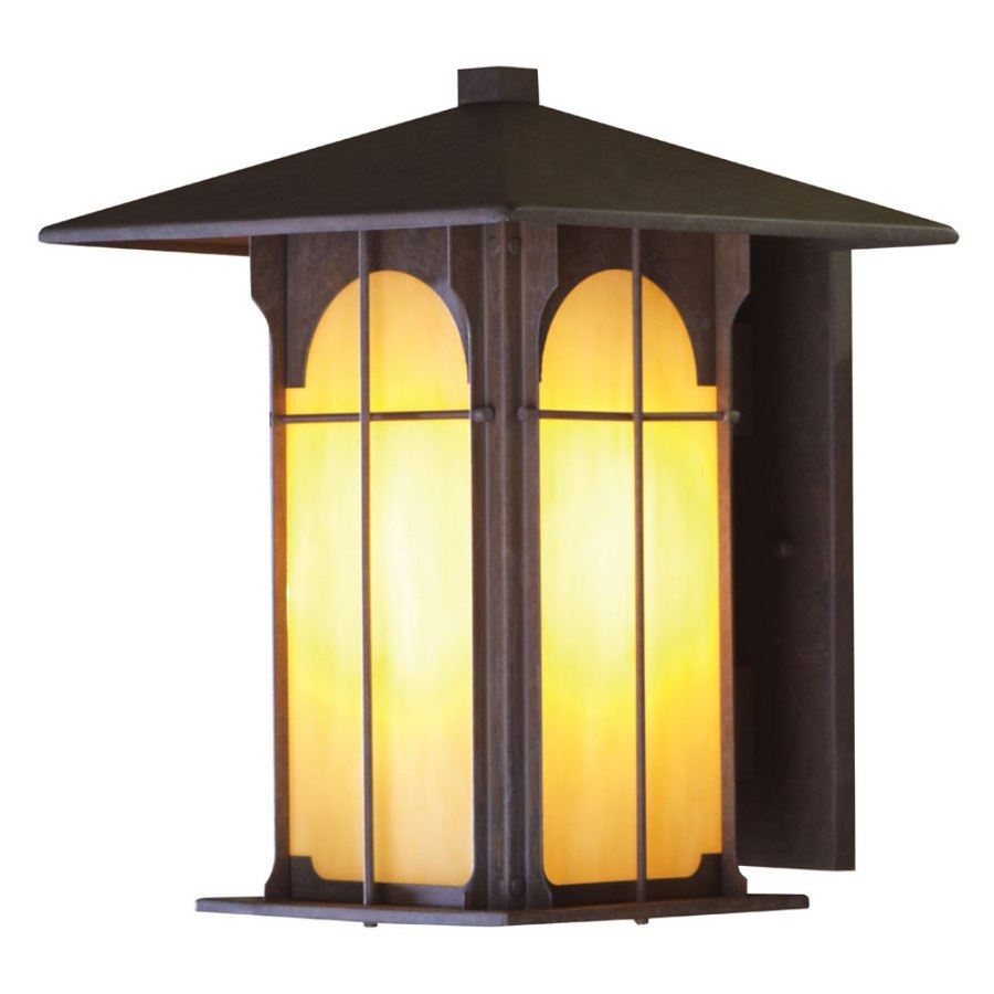 3allen + roth Lindbergh 14.12-in H Olde Brick Outdoor Wall Light