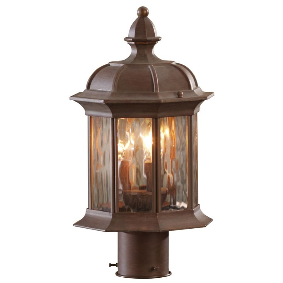 allen + roth Bellwood 15.37-in H Olde Brick Post Light