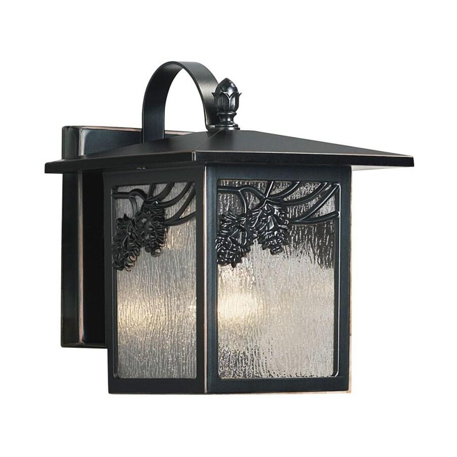 Portfolio Ortman 12-in H Black Outdoor Wall Light