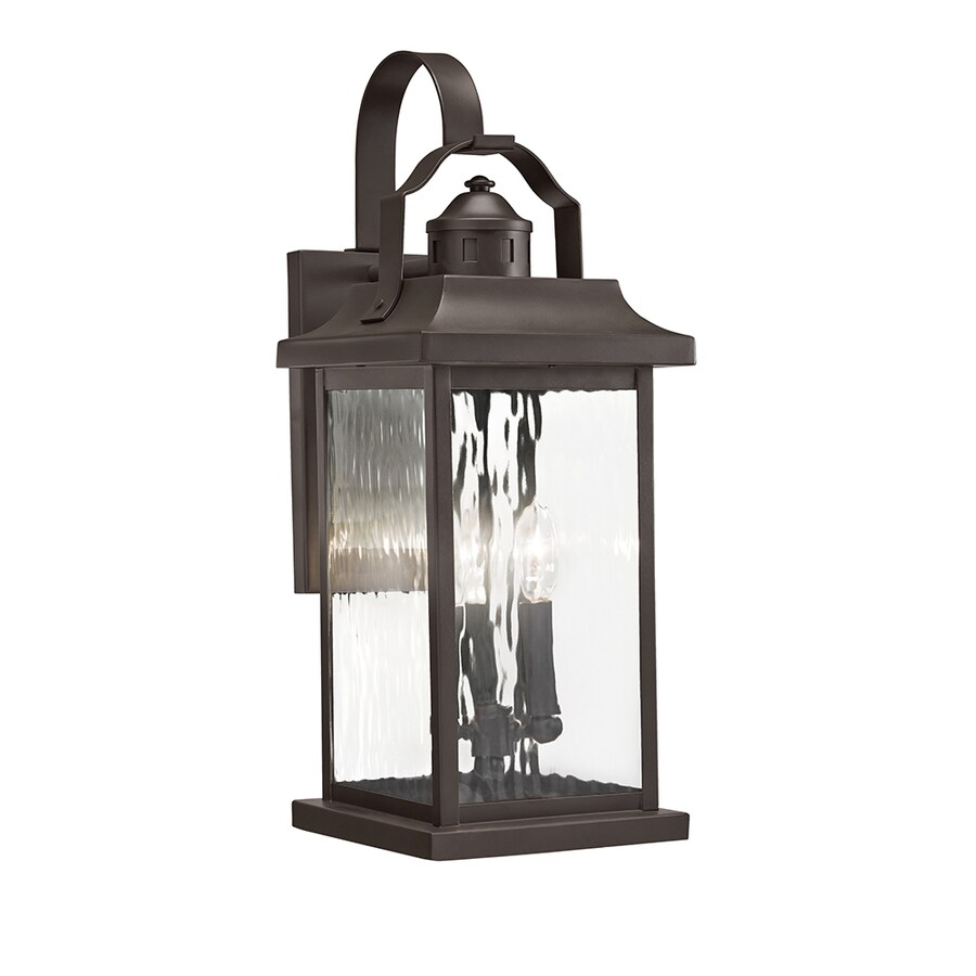 lighting linford 22 2 in h olde bronze outdoor wall light at. Black Bedroom Furniture Sets. Home Design Ideas