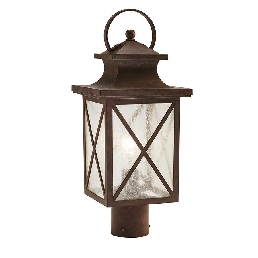 Kichler Lighting Haven 19.21-in H Olde Brick Post Light