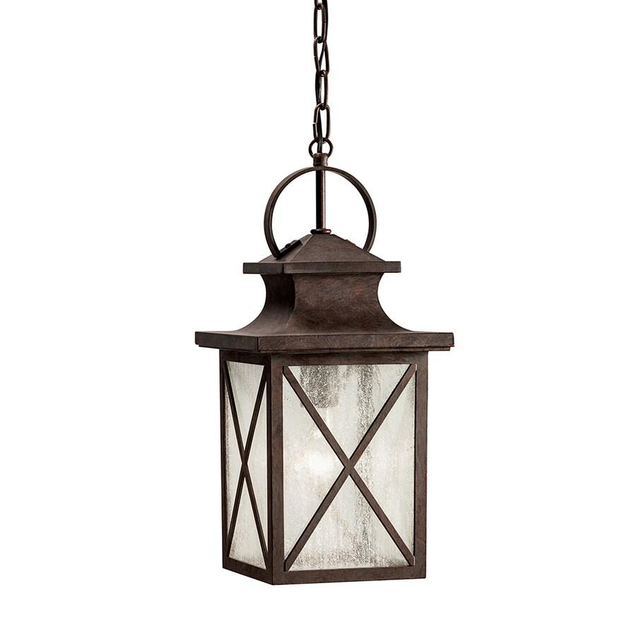 Kichler Lighting Haven 17.17-in Olde Brick Outdoor Pendant Light