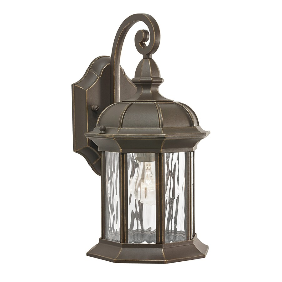 Shop Kichler Lighting Brunswick 12.76-in H Olde Bronze Outdoor Wall Light at Lowes.com