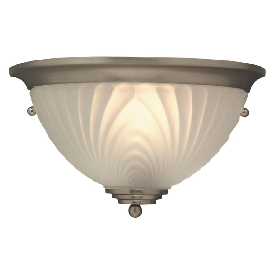 Portfolio Wall Sconce Brushed Nickel : Shop Portfolio 9.875-in W 1-Light Brushed Nickel Pocket Wall Sconce at Lowes.com