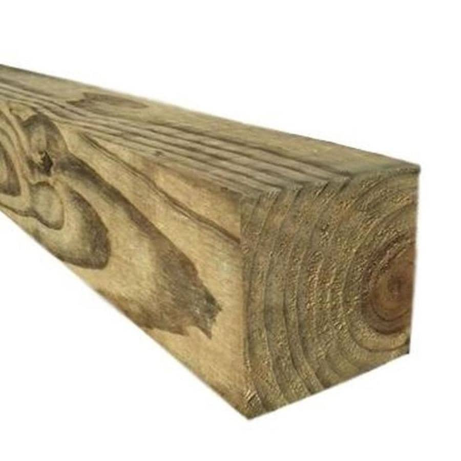 Pressure Treated (Common: 4-in x 4-in x 8-ft; Actual: 3.5-in x 3.5-in x 8-ft) Lumber