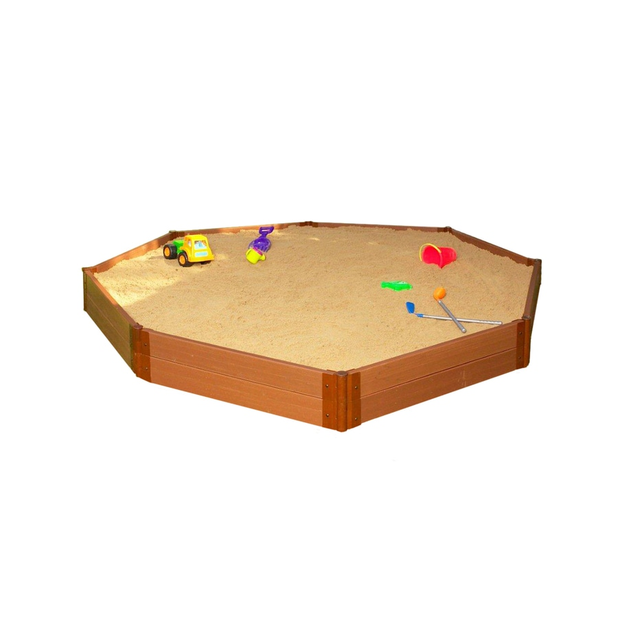 Frame It All 10-ft 6-in x 10-ft 6-in Brown Octagon Composite Sandbox