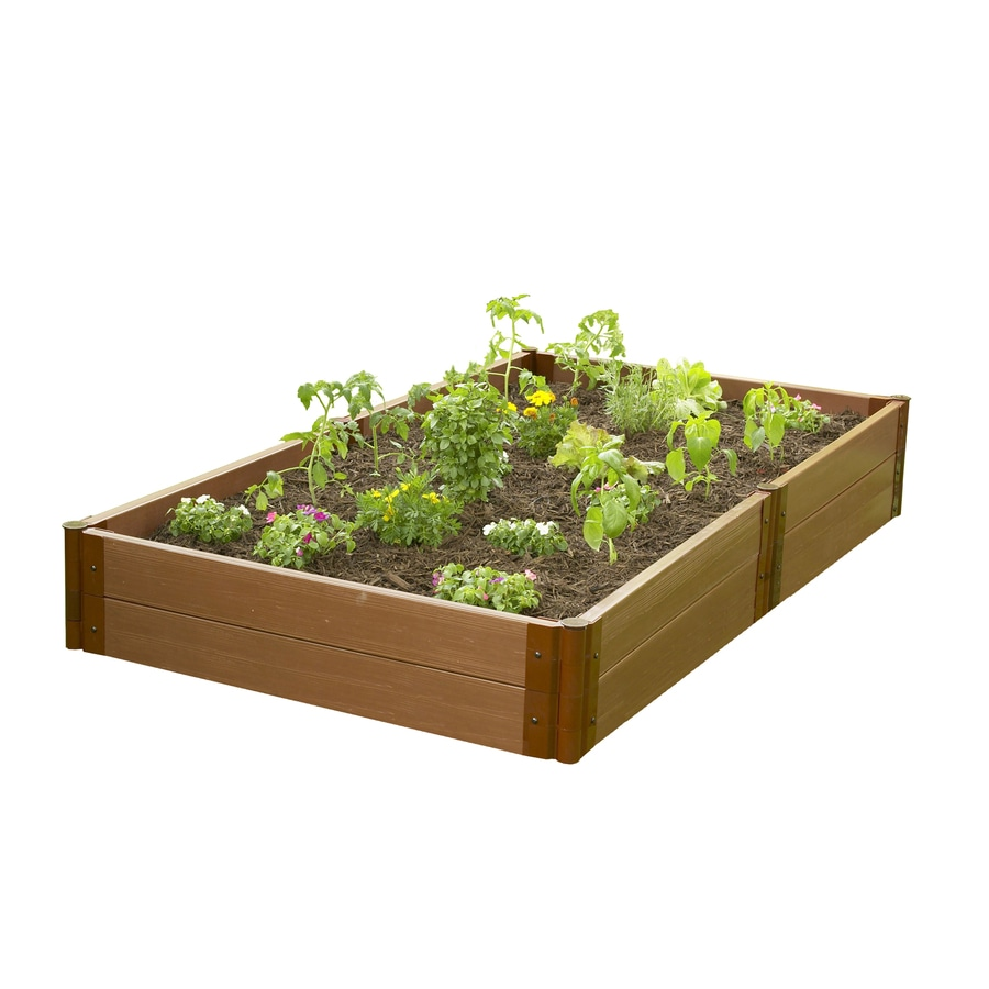 Frame It All 96-in L x 48-in W x 12-in H Resin Raised Garden Bed