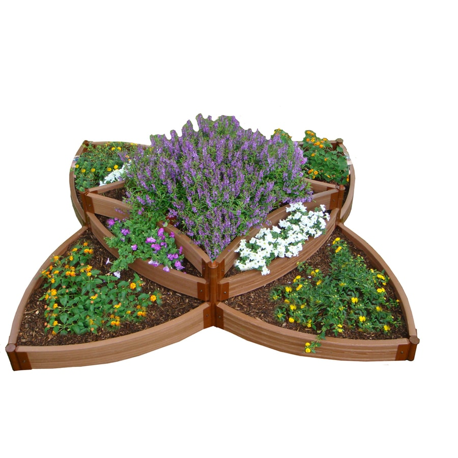 Frame It All 120-in L x 120-in W x 18-in H Resin Raised Garden Bed