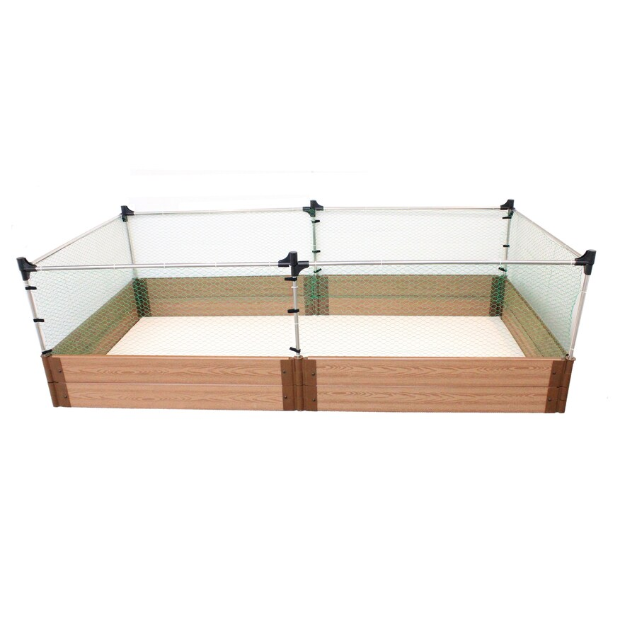 Frame It All 48-in W x 96-in L x 24-in H Stainless Steel Plastic Raised Garden Bed
