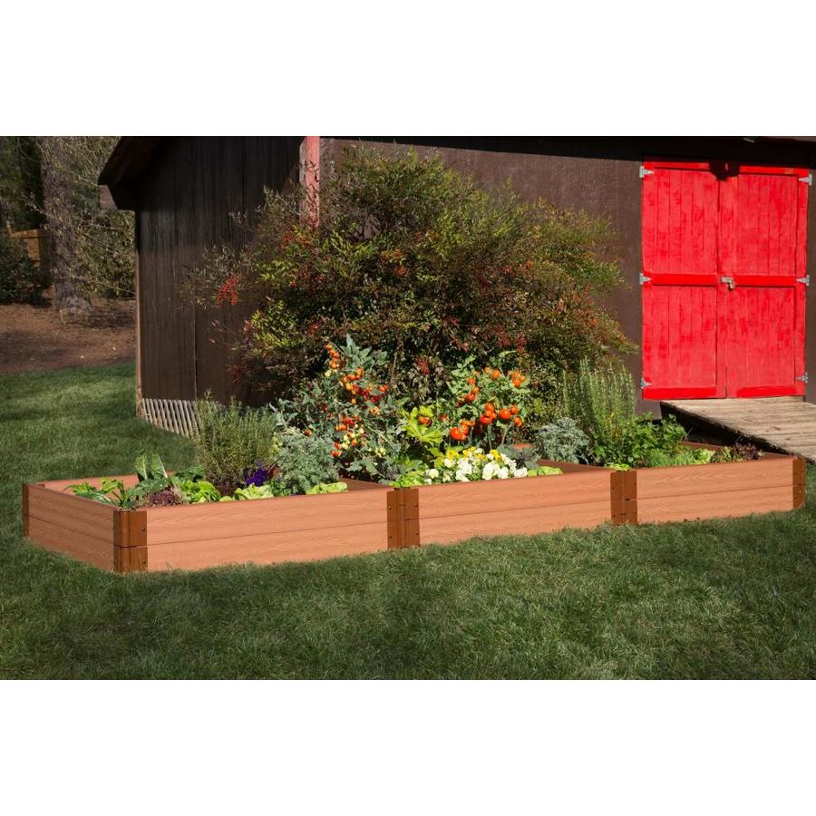 Frame It All 144-in L x 48-in W x 12-in H Resin Raised Garden Bed