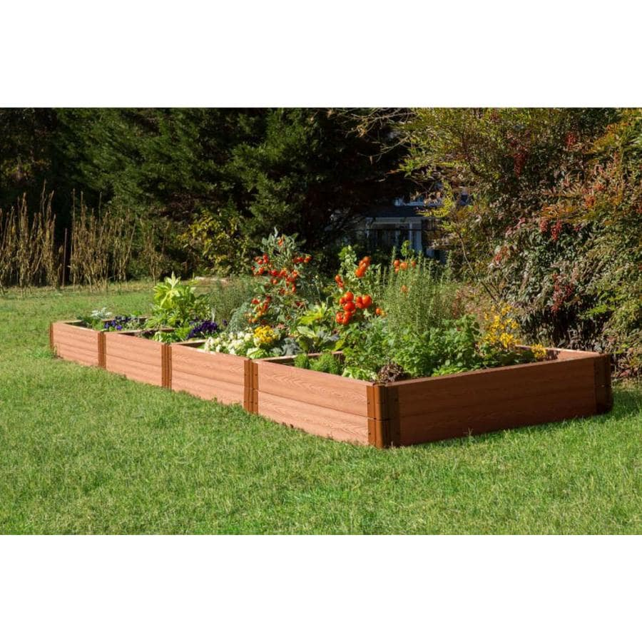 Frame It All 192-in L x 48-in W x 12-in H Resin Raised Garden Bed