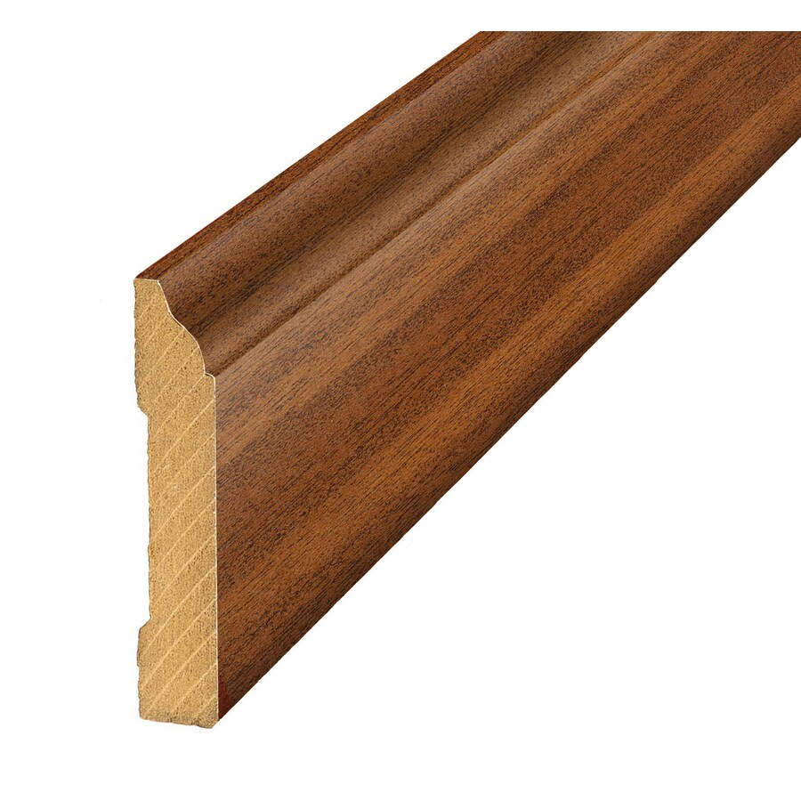 SimpleSolutions 3.3-in x 94.48-in Cherry/Mahogany Base Floor Moulding