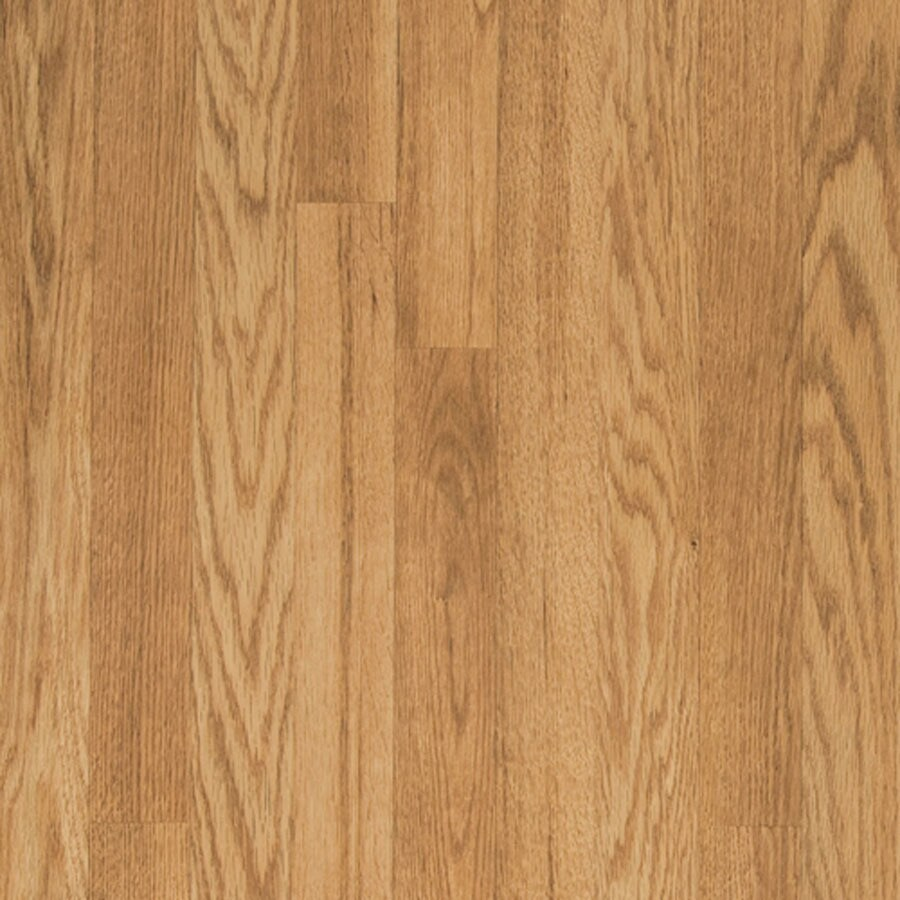 Shop pergo max w x l natural oak embossed for Laminate plank flooring