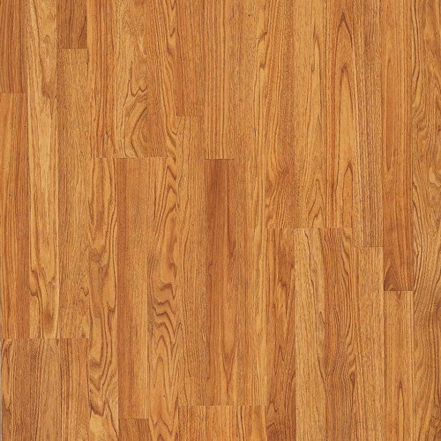 Shop pergo max w x l butterscotch oak wood for Hardwood plank flooring