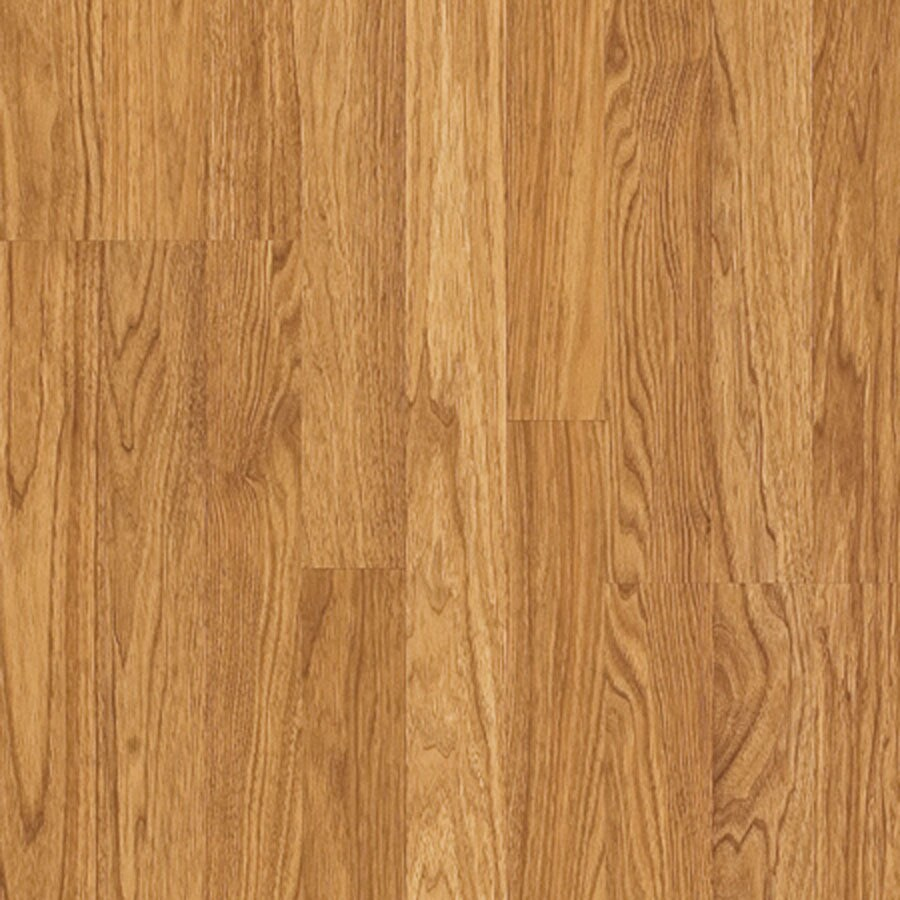 Pergo MAX 7.61-in W x 3.96-ft L Goldenrod Hickory Embossed Laminate Wood Planks