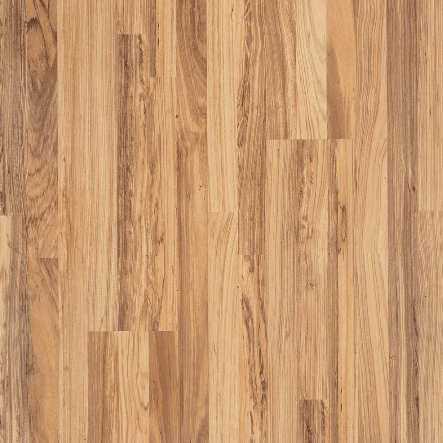 Pergo MAX 7.61-in W x 3.96-ft L Natural Tigerwood Smooth Wood Plank Laminate Flooring
