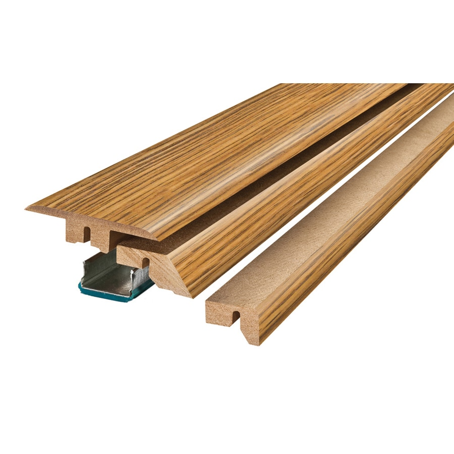 SimpleSolutions 2.37-in x 78.74-in Medium Oak 4-N-1 Floor Moulding