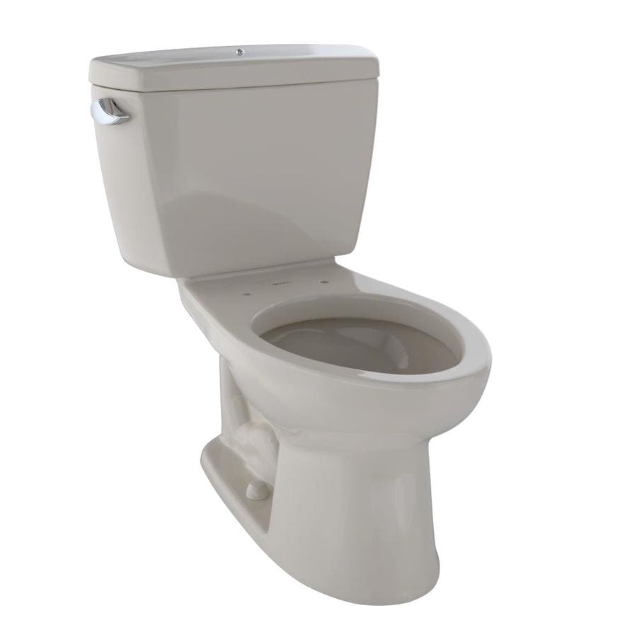 TOTO Drake Bone 1.6-GPF (6.06-LPF) 12 Rough-In Elongated 2-Piece Standard Height Toilet