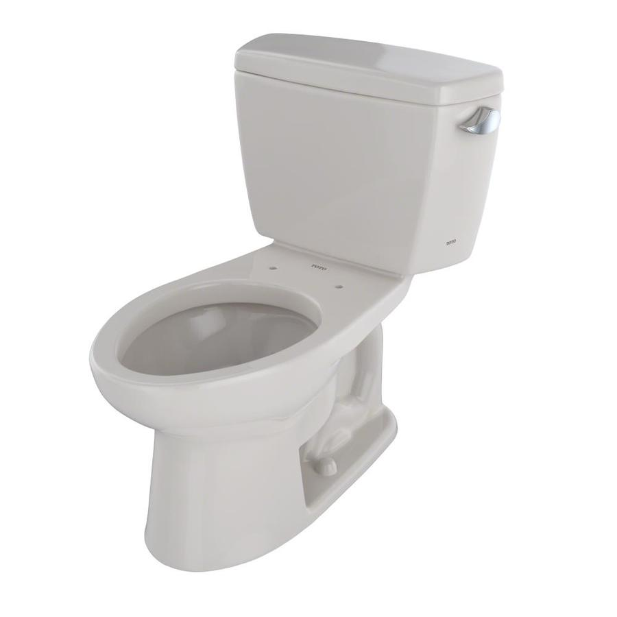 TOTO Drake Sedona Beige 1.6-GPF (6.06-LPF) 12 Rough-In Elongated 2-Piece Standard Height Toilet